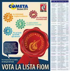 Locandina e Lista FIOM COMETA 2014