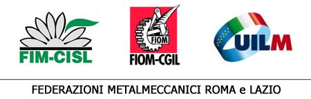 Testata Fim Fiom Uilm - Roma e Lazio